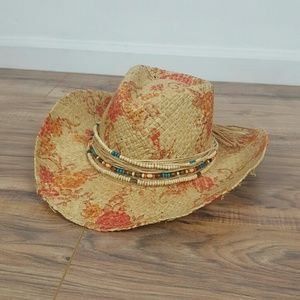 NWT. WOMEN'S COWBOY HAT . WITH FLOWER PRINT
