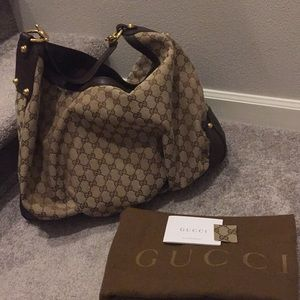 Gucci monogram Jockey Large Hobo