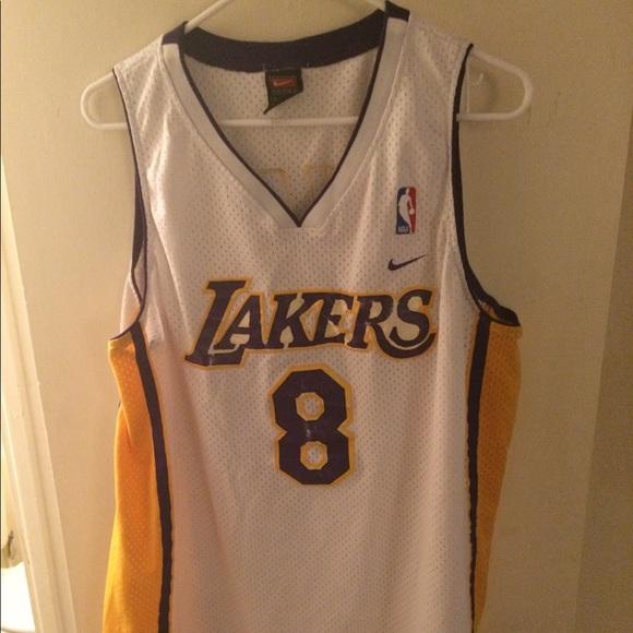 huge selection of ea393 c6b6f Kobe Bryant #8 Nike Swingman Jersey White Large