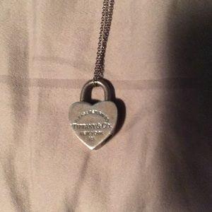 Tiffany necklace with heart lock charm