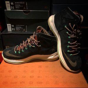 "Nike LeBron X EXT QS ""Black Mint"", Size 11"