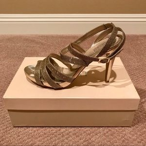 Gold Glint Desi Platform Sandal size 12