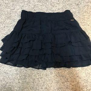 Hollister Navy ruffled skirt, Large