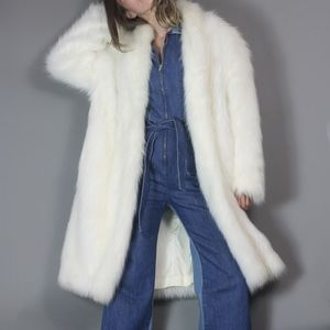Vintage Faux Fur Glam Coat Furry Boho Jacket
