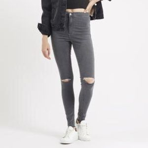Topshop MOTO Joni Jean with ripped knees