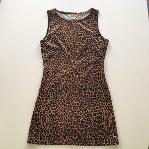 Vintage leopard print mini dress