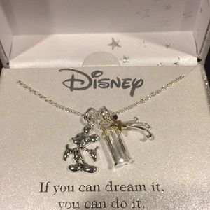 Mickey Mouse Shooting star charm necklace