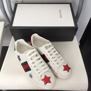 gucci ace sneakers stars size 7