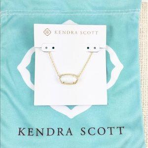 Kendra Scott Elisa white shell gold necklace