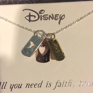 Tinker bell three charm necklace