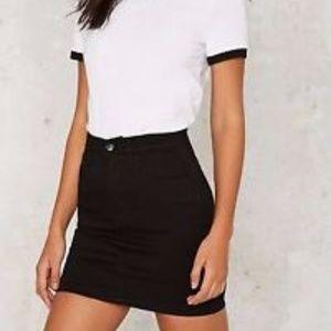 Zee Gee Why Meet My Mum Black Denim Miniskirt