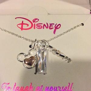 Mickey three charm LOVE necklace