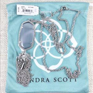 Kendra Scott Rayne slate silver necklace
