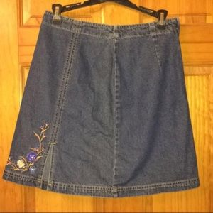 Route 66 vintage embroidered mini skirt