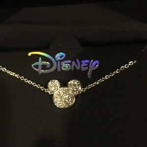 Mickey Mouse crystal and silver necklace