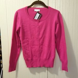 Perfect Hot Pink Cardigan - Size Large NWT