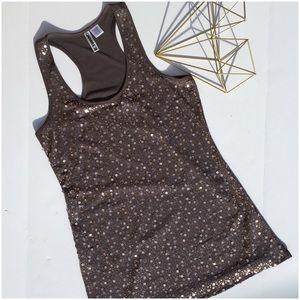 Copper Sequin Front Tunic Tank