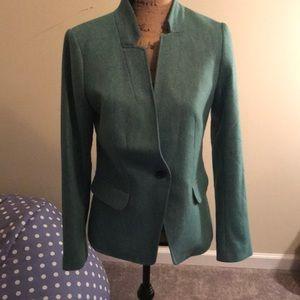 Loft green tweed blazer