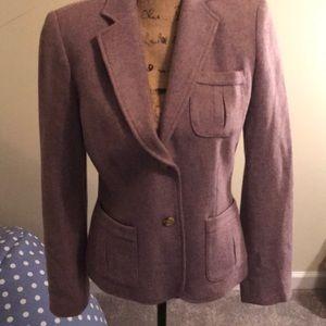 Chaps purple tweed blazer