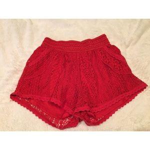 Crochet shorts
