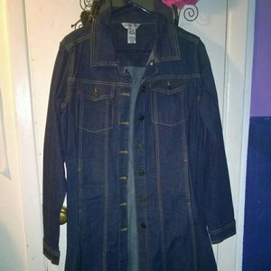 Indigo Rein Denim Trench Jacket