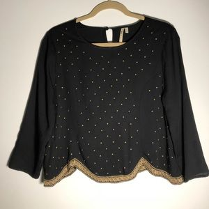 Miami black tunic/crop top
