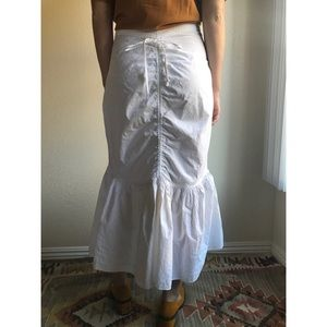 [vintage] 1970s white cotton skirt/underskirt