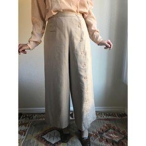 [vintage] ultra wide leg button trousers