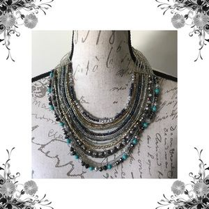 {Jules} Beaded Multi-Strand Necklace