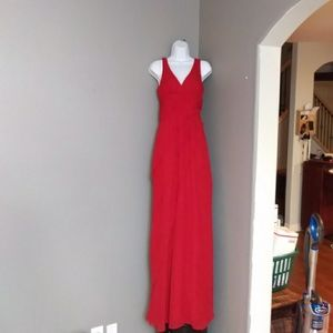 Max And Cleo Red Maxi Dress With Ruffles Sz2