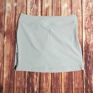 Soft gray skirt with mesh shorts.