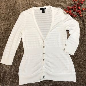 White House black market button up cardigan