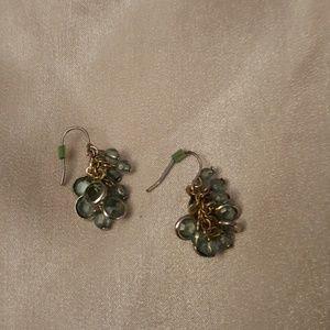 Lot of 3 Dangling Earrings Green, Brown & Teal