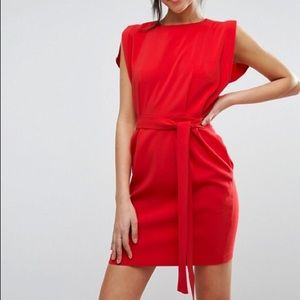 ASOS Belted Red Mini Dress