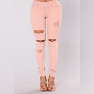 Light Pink Mauve Colored Denim Jeans Pants 13