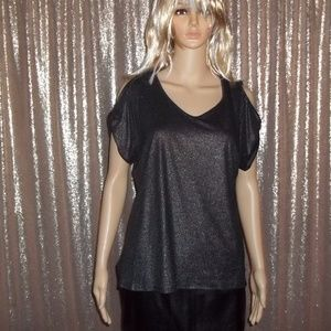 Ivanka Trump Shimmery Cold Shoulder Top-S/P-NWT