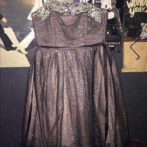 Black/Brown homecoming dress