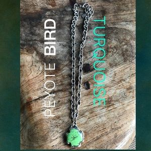 Sterling silver & turquoise cross by Peyote Bird
