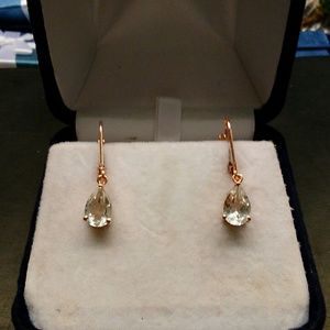 3.00ctw Genuine White Topaz - 14k Gold/925