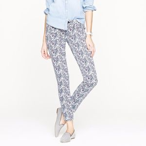 J. Crew Liberty Toothpick Jean in June's Meadow
