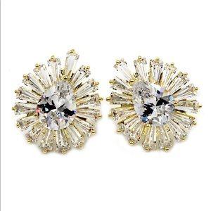 Noble crystal spider earrings