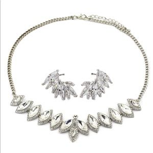 Fashion Crystal Groats necklace earring set