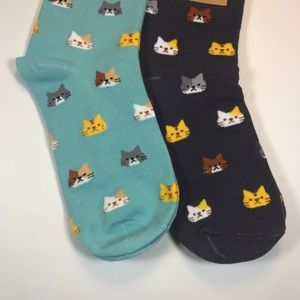 ⏳LAST ONE⏳2 Pairs of Cat Women's Animal Socks