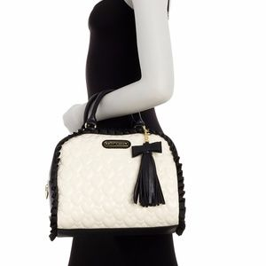 Betsey Johnson Be Mine Faux Leather Dome Satchel