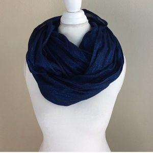 Express blue metallic infinity scarf