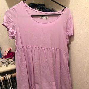 American apparel lilac colored dress