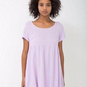 American apparel lilac rayon babydoll dress