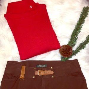 ❣️Lauren Ralph Lauren❣️ Red S Turtle neck sweater