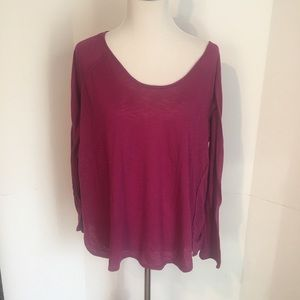Raspberry old navy workout top XL long sleeved