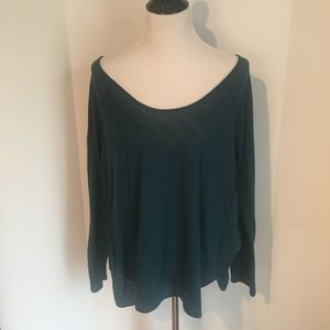 Forest green long sleeve old navy workout top XL